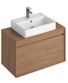 Reflex Walnut 80 CounterTop Vanity Unit and Brook Basin