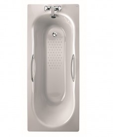 Celtic 1500x700 Twin Grip Steel Bath - 2 Tap Hole