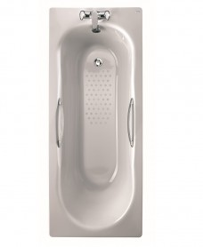 Celtic 1500x700 Twin Grip Steel Bath - 2 Tap Hole Anti Slip