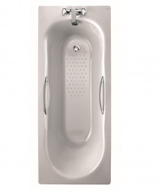 Celtic 1600x700 Twin Grip Steel Bath - 2 Tap Hole