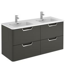 Lyon Gloss Grey 120cm Vanity Unit