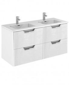 Lyon Gloss White 120cm Vanity Unit