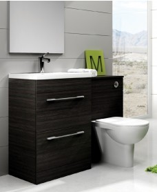 Cairo Black Combo - Special Offer* - includes E100 toilet, choice of Quartz, Sutton, Horley or Poole tap & waste