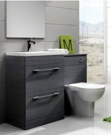 Cairo Grey Combo - Special Offer* - includes E100 toilet, choice of Quartz, Sutton, Horley or Poole tap and waste