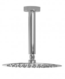 Cari Round 200mm Shower Head & 200mm Ceiling Shower Arm