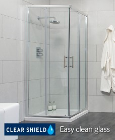City 900 Corner Entry Shower Enclosure - Special Offer* - includes Shower Tray and Waste