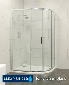 City 1000x800 Offset Quadrant Shower Enclosure - Special Offer* - includes Shower Tray and Waste