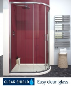 City Plus 1200 x 900 Offset Quadrant Door