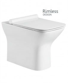 Claire Back to Wall Rimless Design with SLIM Soft Closing Seat - QR