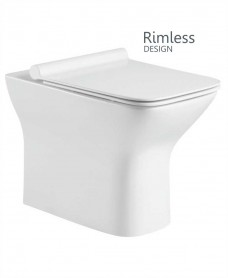 Claire Back to Wall Rimless WC with Quick Release Soft Closing SLIM Seat