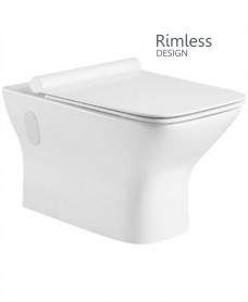 Wall Hung Design, Rimless WC, SLIM Soft Closing Seat  -  QR