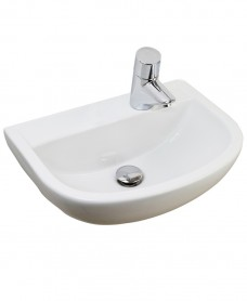 Compact 500 Medical Washbasin 1 Right Hand Tap Hole - HTM64
