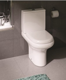 Compact Close Coupled Toilet & Soft Close Seat