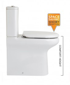 Compact Fully Shrouded Toilet & Soft Close Seat - Comfort Height