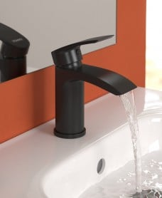 Corby Black Basin Mixer