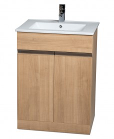 Athens Oak 60cm Vanity Unit & Toledo Washbasin -  * Special Offer includes Choice of Tap