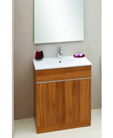 Athens Walnut 60cm Vanity Unit & Toledo Washbasin