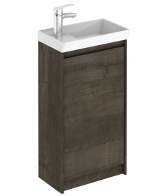 Dijon Samara Ash 45 Floor Standing Vanity Unit and Mirror.