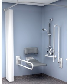 Inta Doc M Shower Pack Concealed Valve - Blue Rails