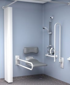 Inta Doc M Shower Pack Concealed Valve - White Rails