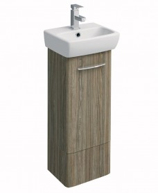 E100 360 Grey Ash Vanity Unit - Floor Standing
