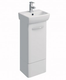 E100 360 White Vanity Unit - Floor Standing