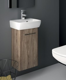 E100 360 Grey Ash Venity Unit - Wall Hung