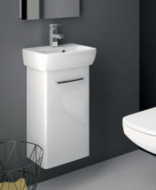 E100 360 White Vanity Unit - Wall Hung