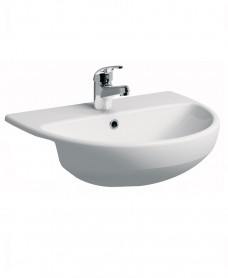 E100 Round 550 Semi recessed basin