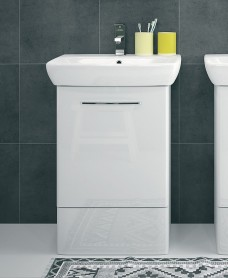 E100 600 White Vanity Unit - Floor Standing