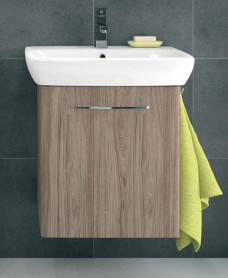 E100 600 Grey Ash Vanity Unit - Wall Hung