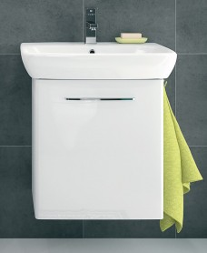 E100 600 White Vanity Unit - Wall Hung