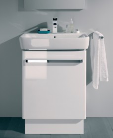 E200 600 White Vanity Unit Floor Standing