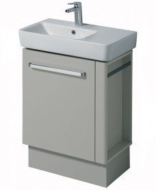 E200 650 Grey Vanity Unit Floor Standing with RH Towel Rail