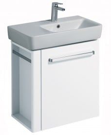 E200 650 White Vanity Unit Wall Hung with LH Towel Rail