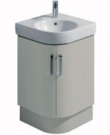 E200 500 Grey Corner Vanity Unit Floor Standing