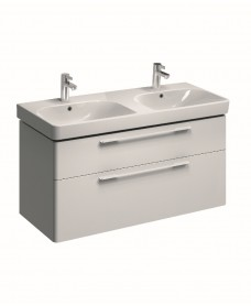 E500 1200 White Double Vanity Unit Wall Hung