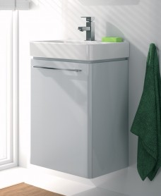 E500 450 Grey Vanity Unit Wall Hung