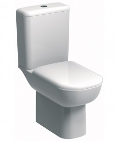 E500 Round Rimfree® Close Coupled Toilet & Standard Seat