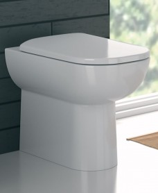 E500 Square Back To Wall Toilet & Standard Seat