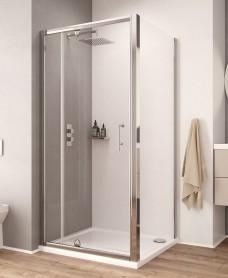 K2 1100 Pivot Shower Door & Inline Shower Enclosure - Adjustment 1060-1120mm
