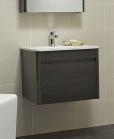 Ella 60cm Dark Wood Vanity Unit and Basin