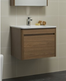 Ella 60cm Walnut Vanity Unit and Basin