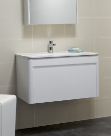 Ella 80cm White Vanity Unit and Basin
