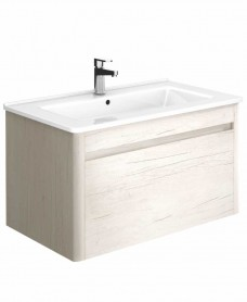 Ella 80 Light Wood Vanity Unit