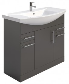 Belmont 105cm Vanity Unit Gloss Grey