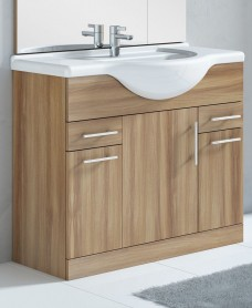 Belmont 100cm Vanity Unit Walnut