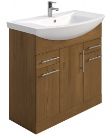 Belmont 85cm Vanity Unit Walnut