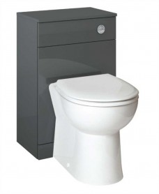 Belmont Back to Wall WC Unit Gloss Grey