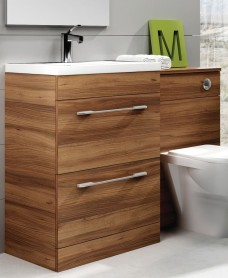 Cairo Walnut 60cm Vanity Unit
